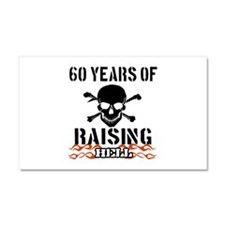 60 years of raising hell Car Magnet 20 x 12