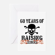 60 years of raising hell Greeting Cards (Pk of 10)