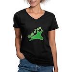 Shamorai 2 Women's V-Neck Dark T-Shirt