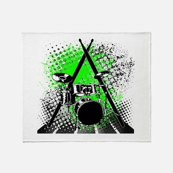Drums & Sticks Throw Blanket