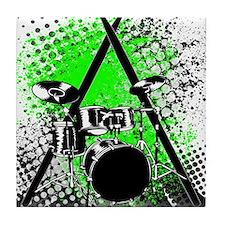 Drums & Sticks Tile Coaster