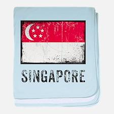 Grunge Singapore baby blanket