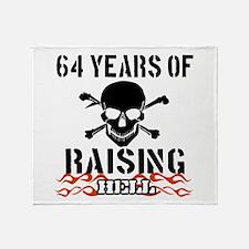 64 years of raising hell Throw Blanket