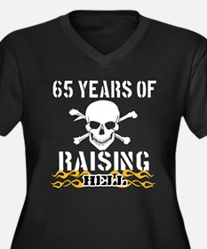 65 years of raising hell Women's Plus Size V-Neck