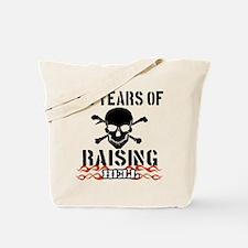 65 years of raising hell Tote Bag