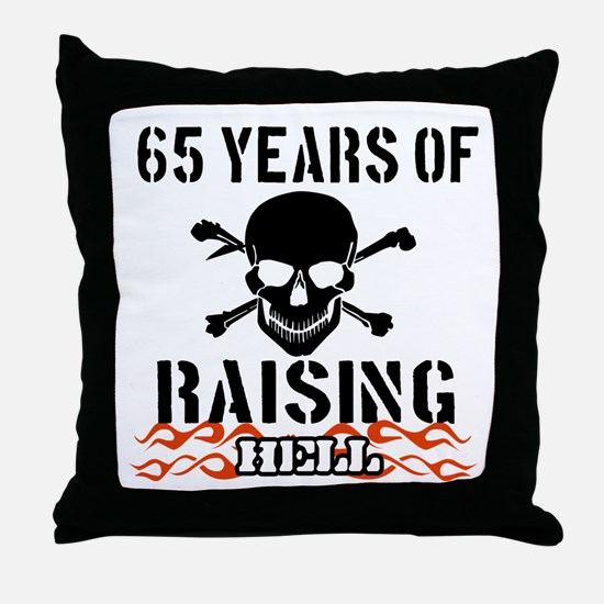 65 years of raising hell Throw Pillow