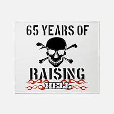 65 years of raising hell Throw Blanket