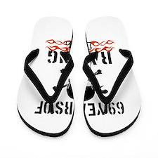 69 years of raising hell Flip Flops