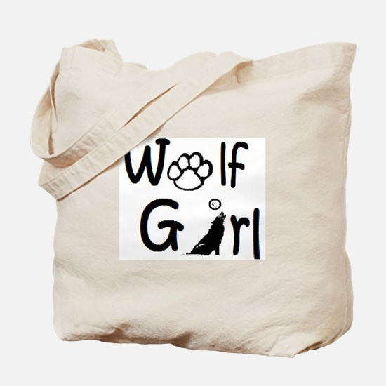 Cute Wolf girl Tote Bag