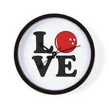 Love Bowling Wall Clock