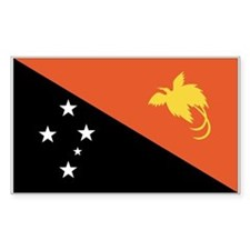 Papua New Guinea Rectangle Decal