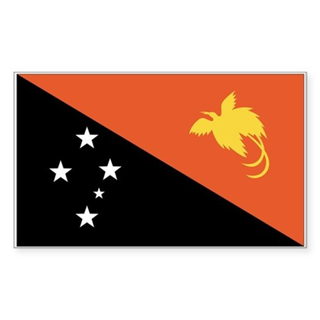 Papua New Guinea Rectangle Sticker