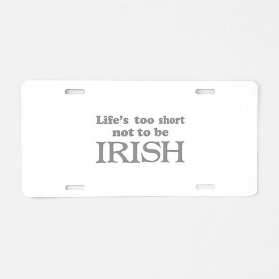 IRISH Aluminum License Plate