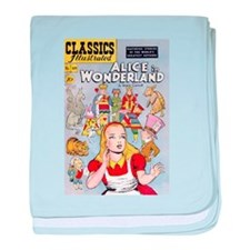 Alice's Adventures in Wonderland baby blanket