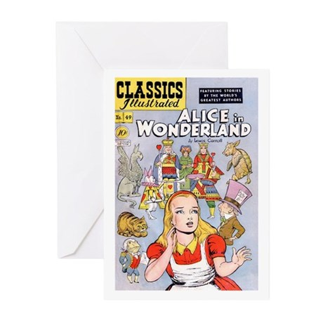Alice's Adventures in Wonderland Greeting Cards (P