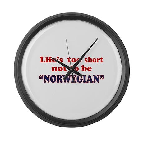 NORWEGIAN Large Wall Clock