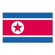 North Korea Rectangle Decal