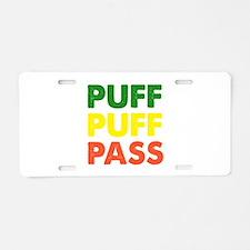 PUFF PUFF PASS Aluminum License Plate