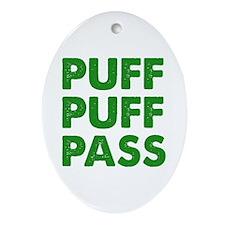 PUFF PUFF PASS Ornament (Oval)