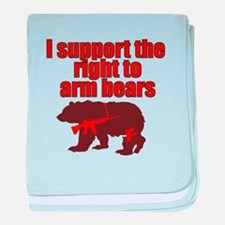 Right to arm bears baby blanket