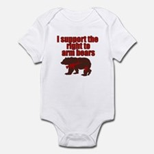 Right to arm bears Infant Bodysuit
