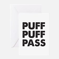 PUFF PUFF PASS Greeting Card