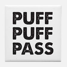 PUFF PUFF PASS Tile Coaster