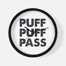PUFF PUFF PASS Wall Clock