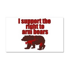 Right to arm bears Car Magnet 20 x 12