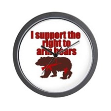 Right to arm bears Wall Clock