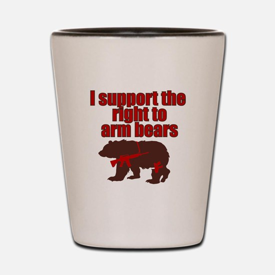 Right to arm bears Shot Glass