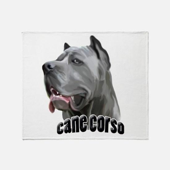 Blue Cane Corso Throw Blanket