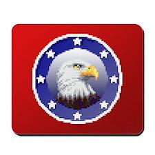 """Pixel Patriotic Eagle"" Mousepad"
