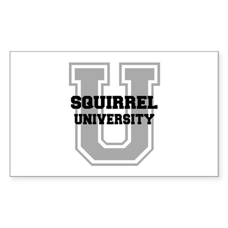 Squirrel UNIVERSITY Sticker (Rectangle)