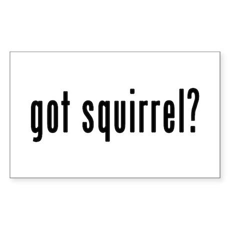 GOT SQUIRREL Sticker (Rectangle)