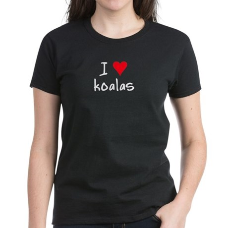 I LOVE Koalas Women's Dark T-Shirt