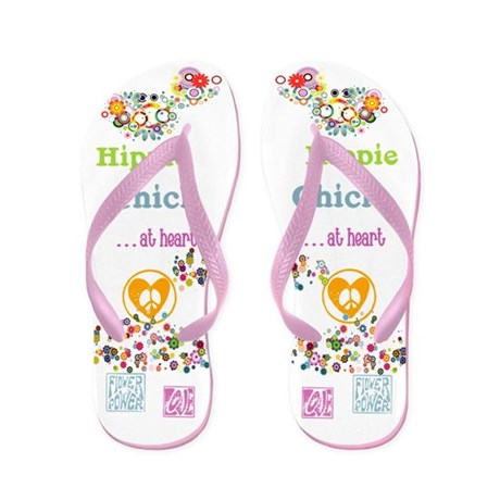 Hippie Chick at Heart Flip Flops