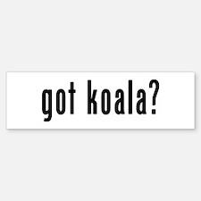 GOT KOALA Bumper Bumper Sticker