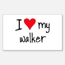 I LOVE MY Walker Decal