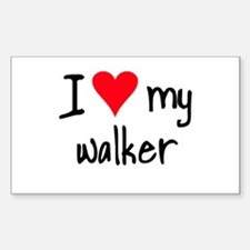 I LOVE MY Walker Sticker (Rectangle)