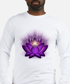 "Violet ""Crown"" Chakra Lotus Long Sleeve T-Shirt"