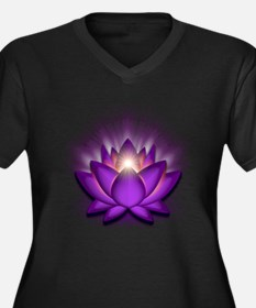 "Violet ""Crown"" Chakra Lotus Women's Plus Size V-Ne"