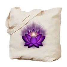 "Violet ""Crown"" Chakra Lotus Tote Bag"