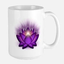 """Violet """"Crown"""" Chakra Lotus Large Mug"""