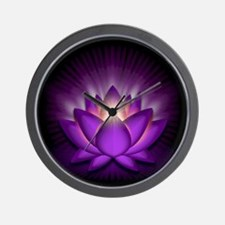 """Violet """"Crown"""" Chakra Lotus Wall Clock"""