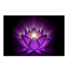 """Violet """"Crown"""" Chakra Lotus Postcards (Package of"""