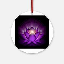 "Violet ""Crown"" Chakra Lotus Ornament (Round)"