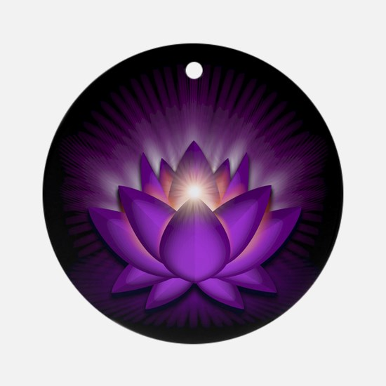 "Violet ""Crown"" Chakra Lotus Ornament (Round)"