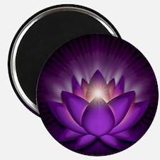 "Violet ""Crown"" Chakra Lotus Magnet"