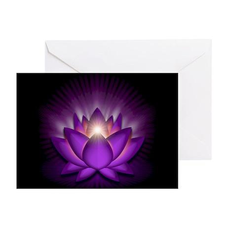 "Violet ""Crown"" Chakra Lotus Greeting Cards (Pk of"